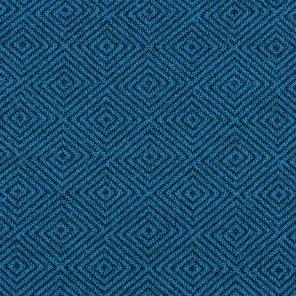 Geometric Dess. Jacquard Fabric İn Colour Petrol