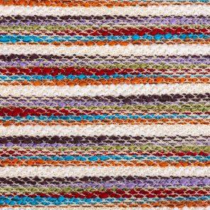 Multicolour Stripes With Slub Yarn Knitted Fabric