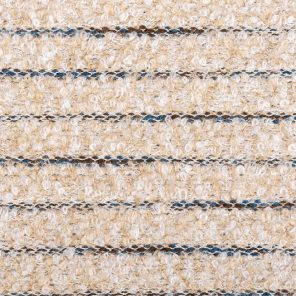 Beige-White-Black Striped Boucklee Knitted Fabric