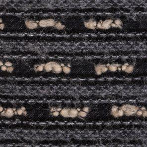 Black-Grey-Ecru Special Hairy Fabric