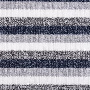 Striped Knitted  Ribb