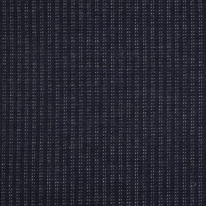 Navy Jacquard White Dashed Line Knitted  Fabric