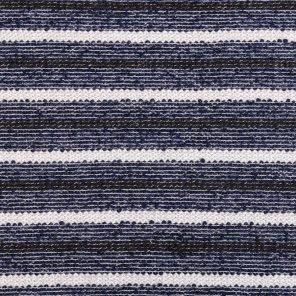 Navy-White Striped Fabric