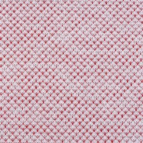 Whıte-Red Fancy Knitted Fabric
