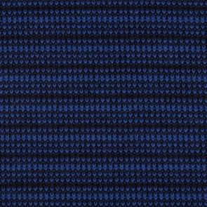 Blue-Black Knitted Fabric