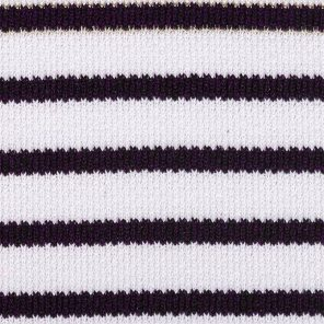White-Black Striped Knitted Fabric