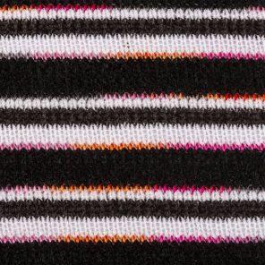 Black-White Degradee Pink-Orange Chenille Knitted Fabric