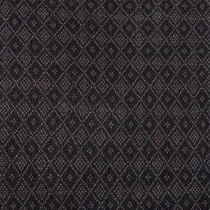 Black  Diamond Patterned Jacquard Knitted Fabric
