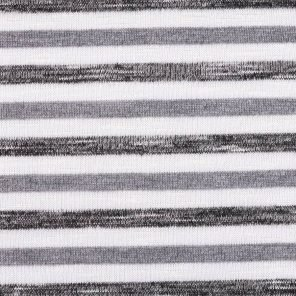 White-Grey-Anthracite Striped Knitted Fabric