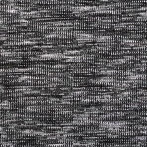 Black- White Melange Effect Knited Fabric