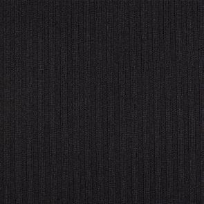 Black Rib Knitted Fabric