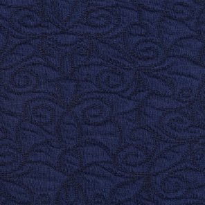 Blue-Black Double Jacquard Knitted Fabric