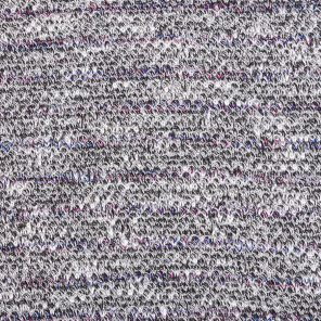 White-Grey-Degradee Lila  Twisted Fancy Knitted Fabric