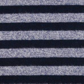 Striped Knitwear Look Melange Knitted Fabric