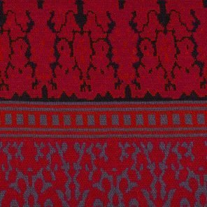 Black-Grey-Red Jaquard Knitted Fabric