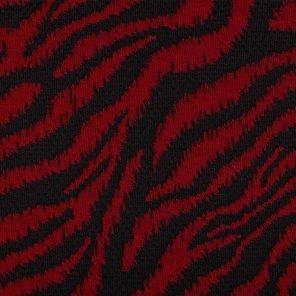Black-Red Zebra Design Jaquard Knitted Fabric