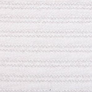 White Knitted Fabric With  Lurex And Flamm Yarn