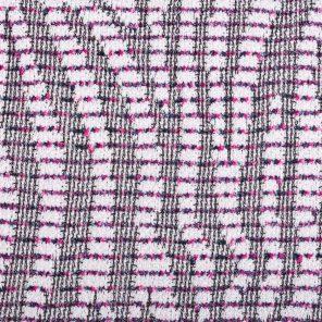 Pink-Ecru- Striped Zebra Jaquard Knitted Fabric