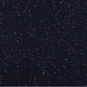 Black Knitted Fabric With Multicolour Twisted Yarn