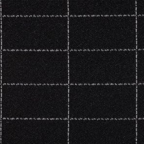 Black-White Big Checks Knitted Fabric
