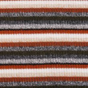 Grey-White -Brown Ribb Fabric
